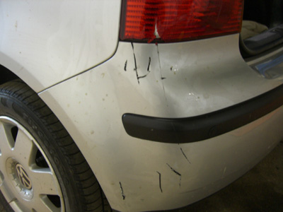 VW Polo Scratched Bumper